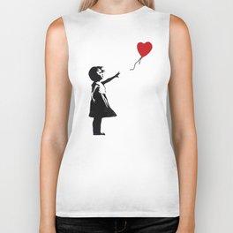 Banksy - Girl With Balloon Biker Tank