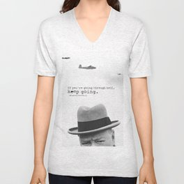 Churchill Unisex V-Neck