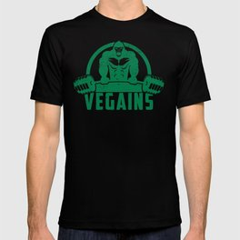 Vegains Vegan Muscle Gorilla - Funny Workout Quote Gift T-shirt