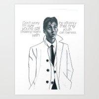 alex turner Art Prints featuring Alex turner  by Kainaat Aslam