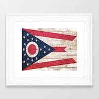 ohio Framed Art Prints featuring Ohio by C Liza B