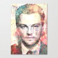 leonardo dicaprio Canvas Prints featuring Leonardo DiCaprio by Nechifor Ionut