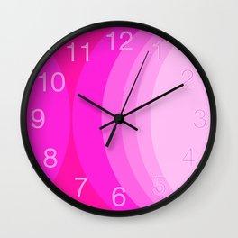 Moons - Pinks Wall Clock
