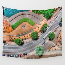 View From The Top    (digital painting) Wall Tapestry