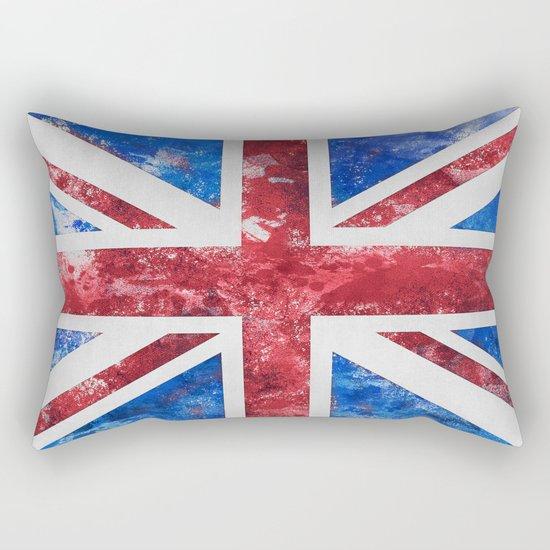 Union Jack Great Britain Flag Grunge Rectangular Pillow