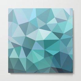 3angle blue Metal Print