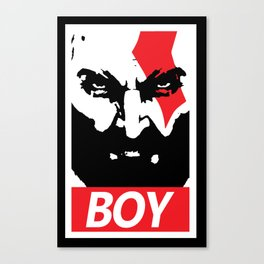 GOW Boy Obey Canvas Print