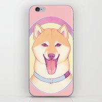 shiba iPhone & iPod Skins featuring Shiba Inu by daftmue