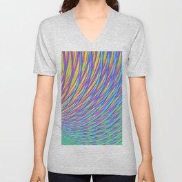 Rainbow Weave Unisex V-Neck