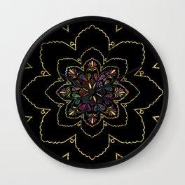 Mandala of Wishes Wall Clock