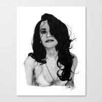 aaliyah Canvas Prints featuring Aaliyah by Finn Art