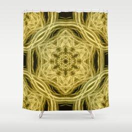 Elegant gold kaleidoscopes Shower Curtain