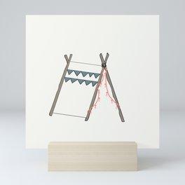 Teepee Fringe Mini Art Print