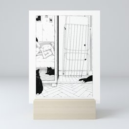 Scenes de Lit / Bedroom scenes II Black and white version Mini Art Print
