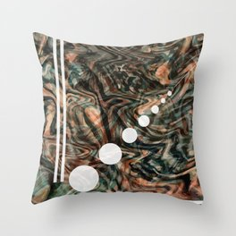 Abstract Painting - Flow 1 - Fluid Painting - Brown, Black Abstract - Geometric Abstract - Marbling Throw Pillow
