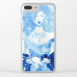 Kate as Marie Antoinette Clear iPhone Case