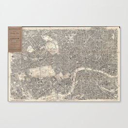 Vintage Map of London England (1899) 2 Canvas Print