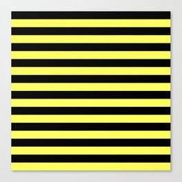 Stripes (Black & Yellow Pattern) Canvas Print