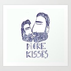More kisses! Art Print