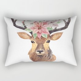 Winter Deer 3 Rectangular Pillow