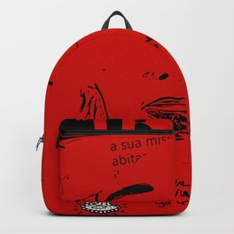Italian Red Street Cinema Poster Graffiti Art Backpack