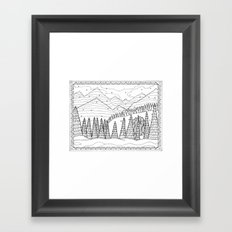 Yeti from the Bestiary Coloring Book Framed Art Print