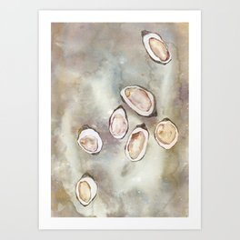 Oyster Bed Art Print