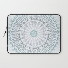 Teal Aqua Mandala Laptop Sleeve
