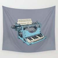 piano Wall Tapestries featuring The Composition. by Matt Leyen