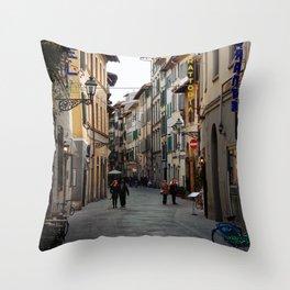Via Faenza - Florence, Italy Throw Pillow