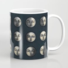 moon phases and textured darkness Coffee Mug