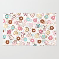 donuts Area & Throw Rugs featuring Donuts by JudithzzYuko
