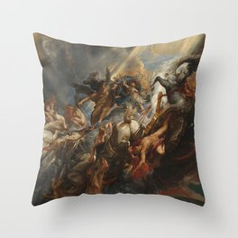 The Fall of Phaeton Oil Painting by Sir Peter Paul Rubens Throw Pillow