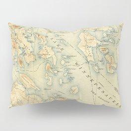 Vintage Map of Lake Winnipesaukee (1907) Pillow Sham