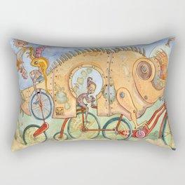 Monster Bike Rectangular Pillow