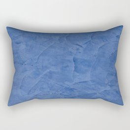 Light Blue Stucco - Corbin Henry Monochromatic texture -Faux Finishes - Venetian Plaster Rectangular Pillow