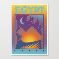 egypt Canvas Prints featuring Egypt by David Chestnutt
