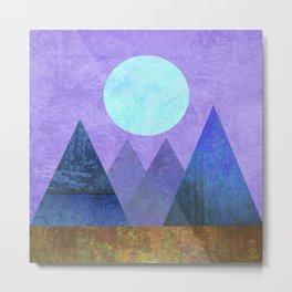 Take Me Away, Mountains, Full Moon Metal Print