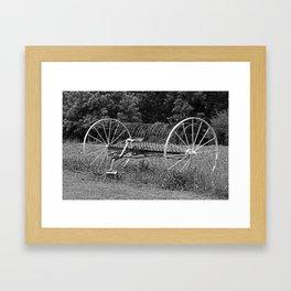 Vintage Hay Rake Framed Art Print