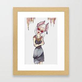 Albino cave goblin Framed Art Print