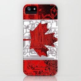 circuit board Canada (Flag) iPhone Case