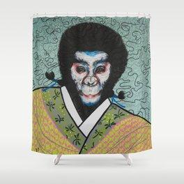 Kabuki face paint Shower Curtain