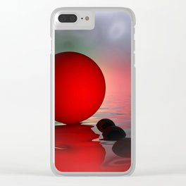 just red - square format Clear iPhone Case