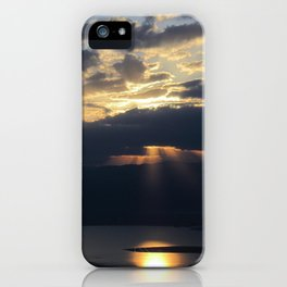 Sunrise over the Dead Sea iPhone Case