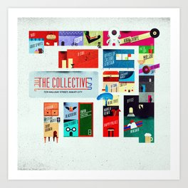 The Collective Map Art Print