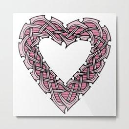 Celtic Knotwork Heart Metal Print