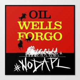 Oil Wells Forgo: NODAPL Canvas Print
