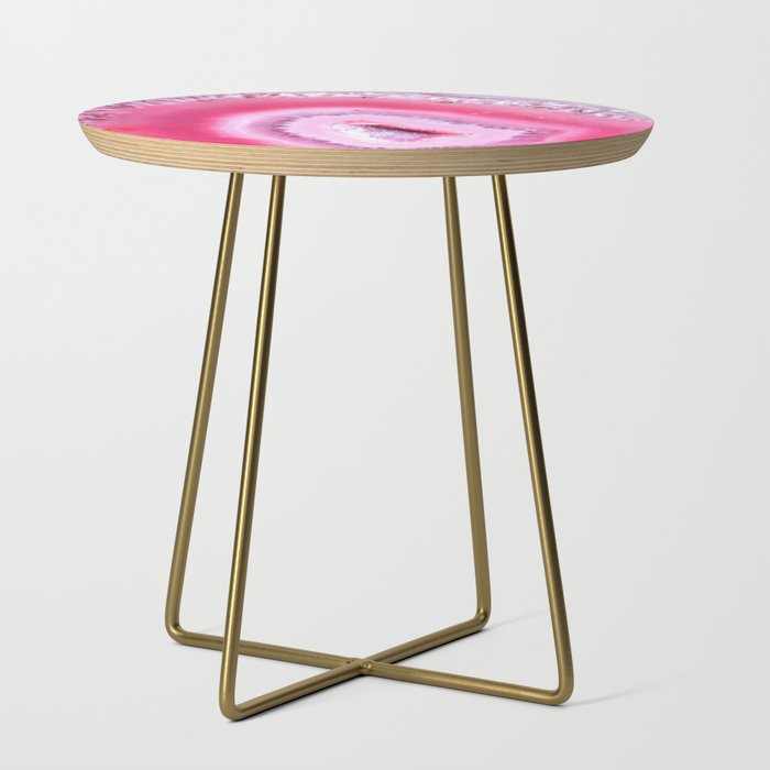 Pink_Geode_Crystal_Side_Table_by_NewburyBoutique__Gold__Round