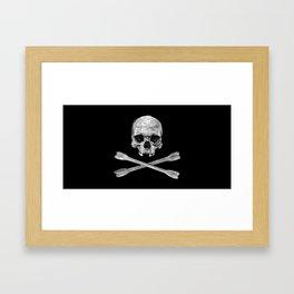 Jolly Roger Banner Framed Art Print