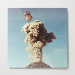 Volcanic Pop - Champagne Metal Print